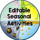 Editable Seasonal Activities