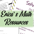 Erica's Math Resources