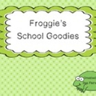 Froggie's School Goodies