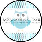 Inspire Motivate Teach in Turquoise
