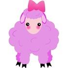 Lilac Sheep Clip Art