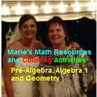 Marie's Math Resources and Coloring Activities
