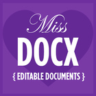 Miss DOCX Editable Documents and Flyers