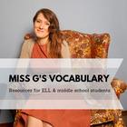 Miss G's Vocabulary