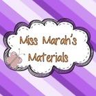 Miss Marah's Materials