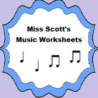 Miss Scott's Music Worksheets