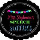 Miss Stephanie's Speech Supplies
