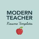 Modern Teacher Resume Templates