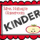 Mrs Haneys Kinder Classroom