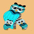 Owls and Owlets Digital Art