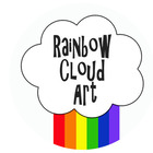 Rainbow Cloud Art