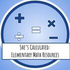 Shes Calculated Elementary Math Resources