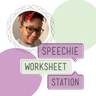 Speechie Worksheet Station