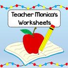 Teacher Monica's Worksheets