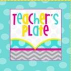 Teacher's Plate