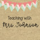 Teaching with Mrs Johnson