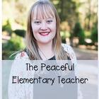 The Peaceful Elementary Teacher