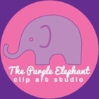 The Purple Elephant Clip Art Studio