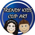 Trendy Kids Clip Art